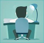 Werken aan bureau